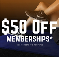 $50 off memberships